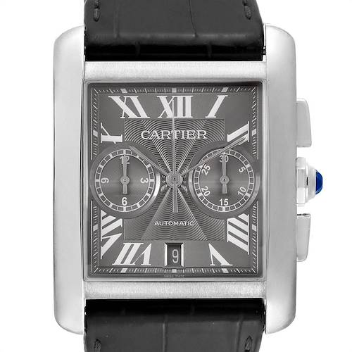 Photo of Cartier Tank MC Grey Dial Chronograph Mens Watch W5330008 Box Papers