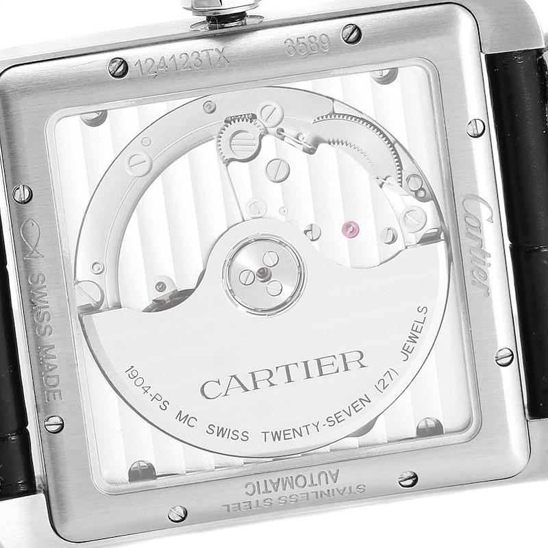 Cartier Tank MC Black Dial Automatic Steel Mens Watch W5330004 SwissWatchExpo