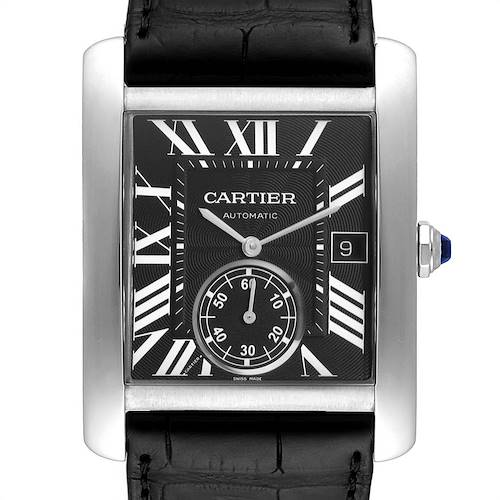 Photo of Cartier Tank MC Black Dial Automatic Steel Mens Watch W5330004