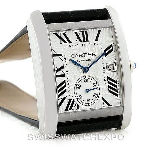 Cartier Tank MC Automatic Silver Dial Mens Watch W5330003 Unworn SwissWatchExpo