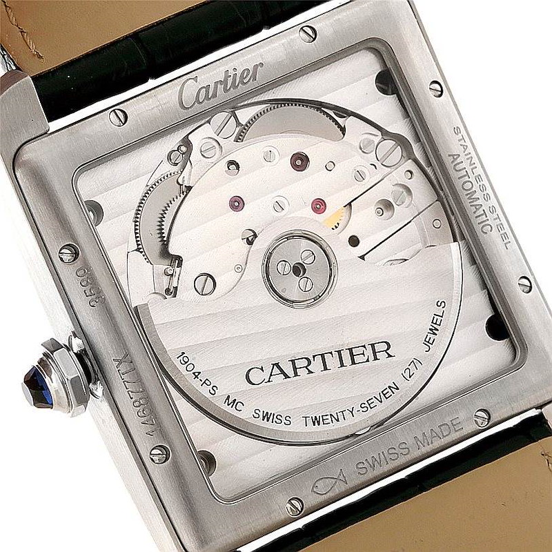 Cartier Tank MC Automatic Silver Dial Mens Watch W5330003 Unworn SwissWatchExpo