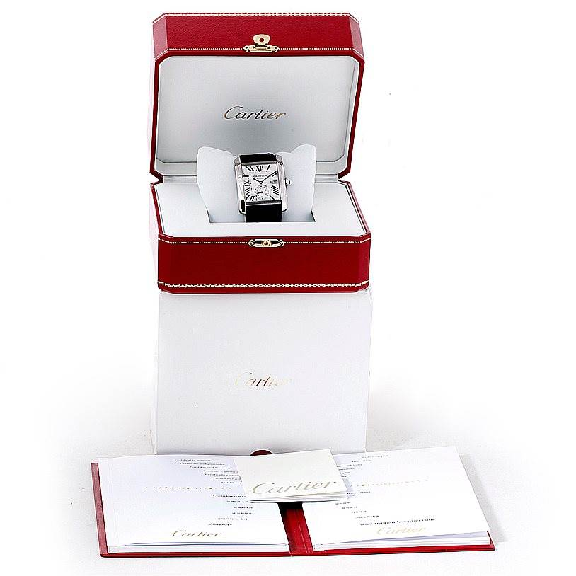 8301 Cartier Tank MC Automatic Silver Dial Mens Watch W5330003 Unworn SwissWatchExpo