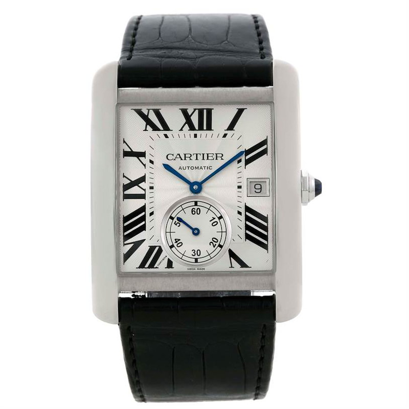 Cartier Tank MC Automatic Silver Dial Mens Watch W5330003 SwissWatchExpo