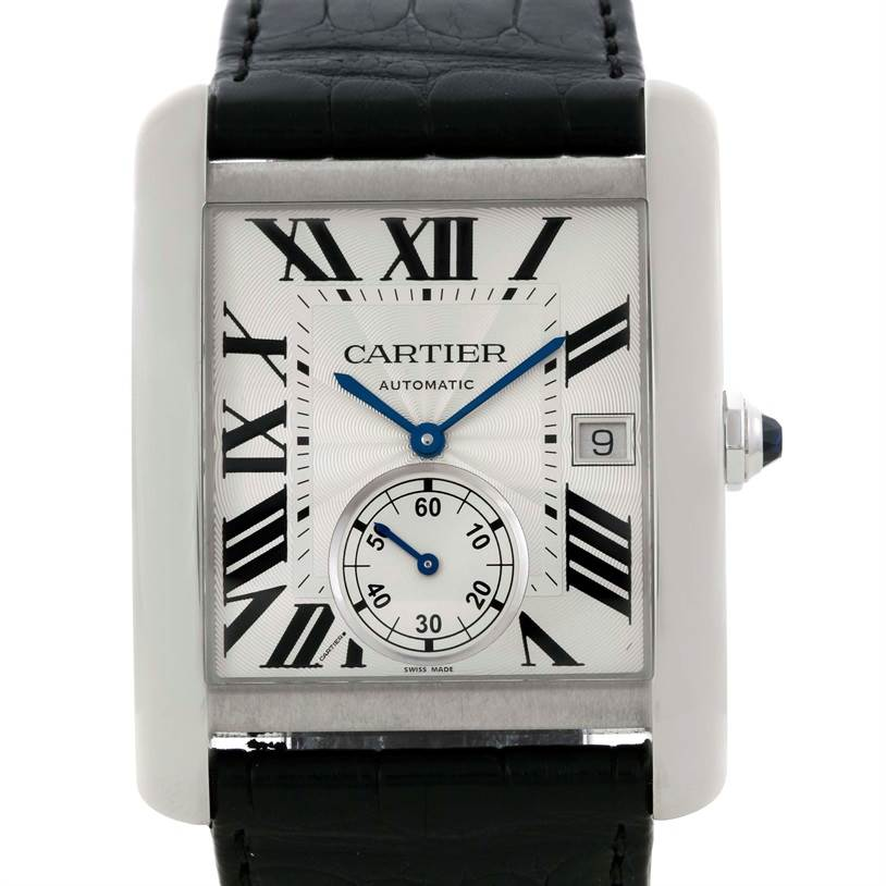 9554 Cartier Tank MC Automatic Silver Dial Mens Watch W5330003  SwissWatchExpo