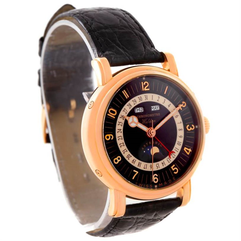 Waldan Astronic Triple Date Moonphase 18K Rose Gold Watch SwissWatchExpo
