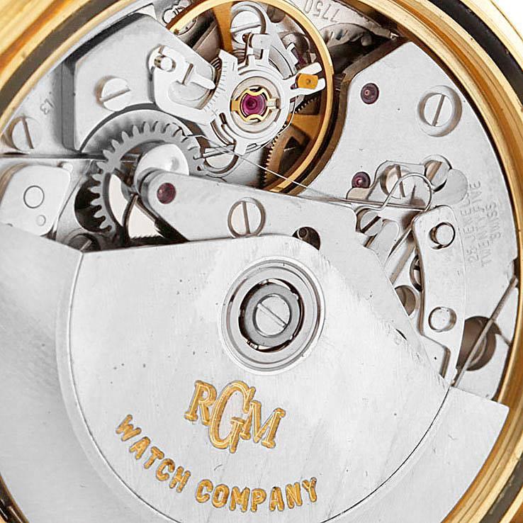 RGM 18K Yellow Gold Chronograph Mens Watch 101 SwissWatchExpo