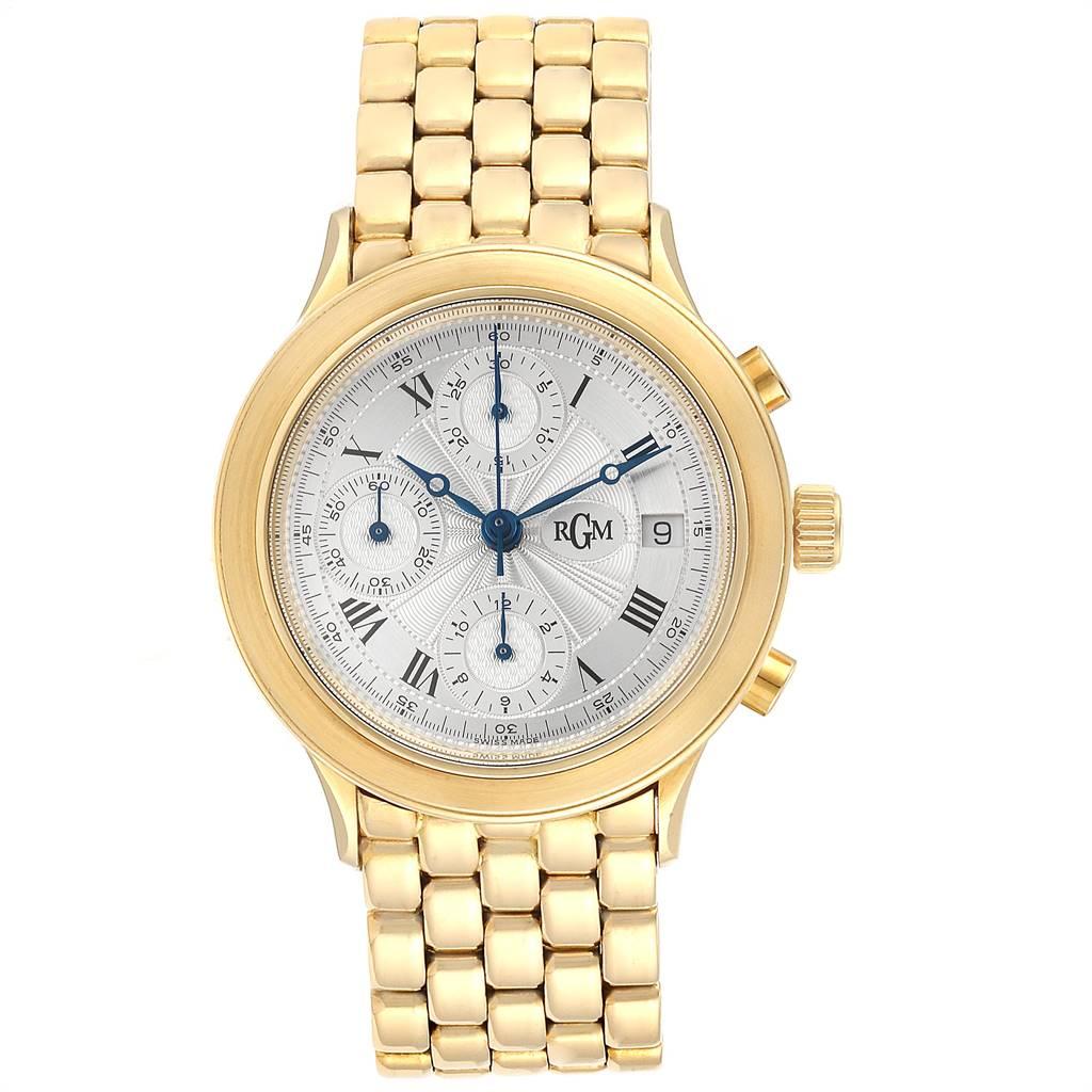7799 RGM 18K Yellow Gold Chronograph Mens Watch 101 SwissWatchExpo