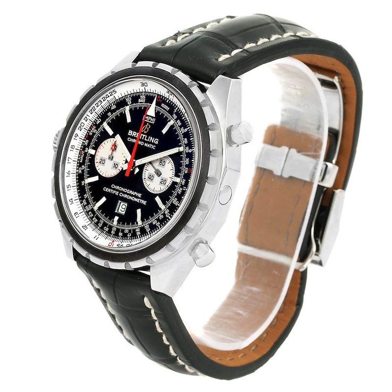 Breitling Chronomatic Chronograph Left Crown Mens Watch A41360 SwissWatchExpo