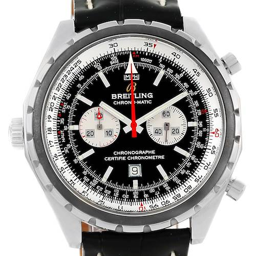 Photo of Breitling Chronomatic Chronograph Left Crown Mens Watch A41360