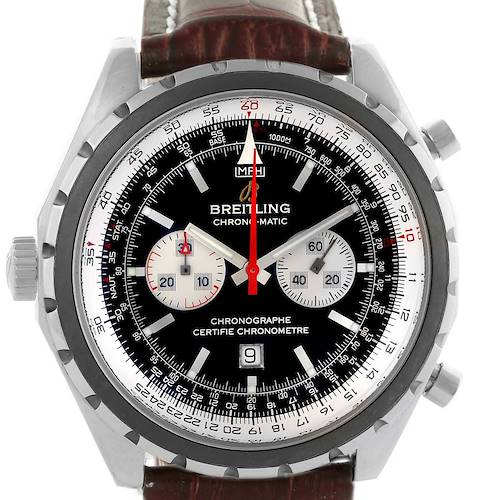 Photo of Breitling Chronomatic Left Crown Steel Mens Watch A41360 Box Papers