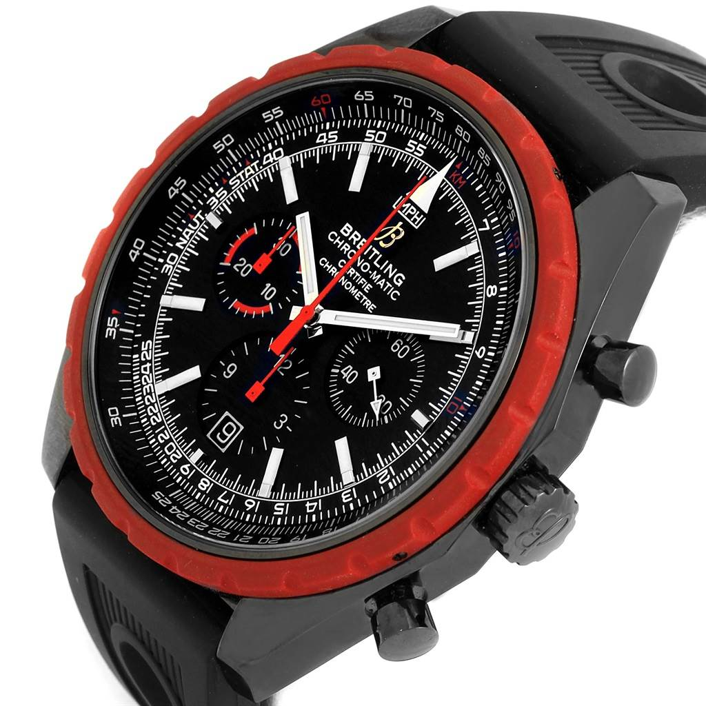 14785 Breitling Chrono-Matic Red Bezel Limited Edition Mens Watch M14360 SwissWatchExpo