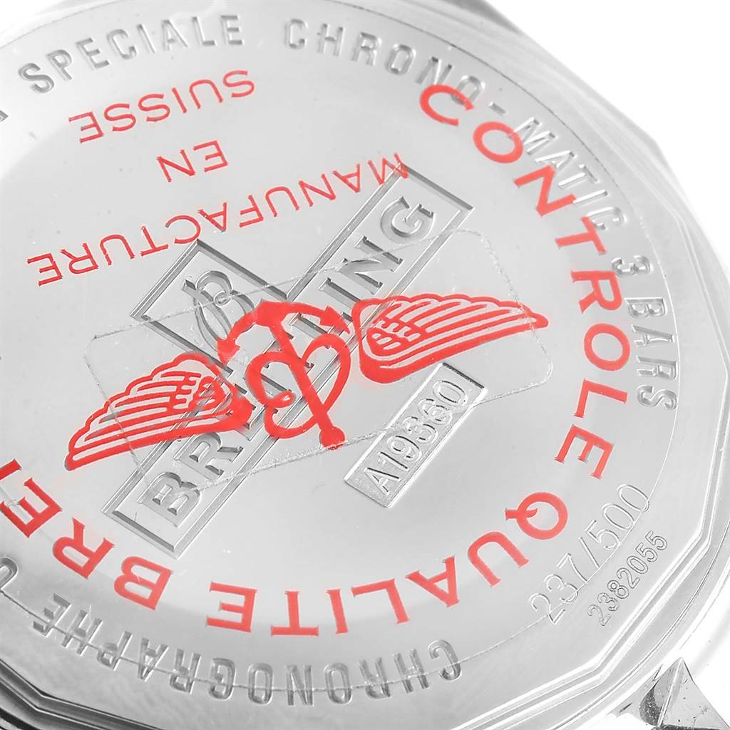 Breitling Chrono-Matic Red Bezel Limited Edition Watch A19360 Unworn SwissWatchExpo