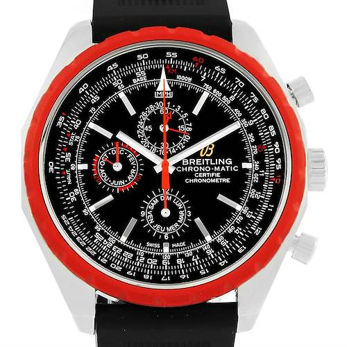 Photo of Breitling Chrono-Matic Red Bezel Limited Edition Watch A19360 Unworn