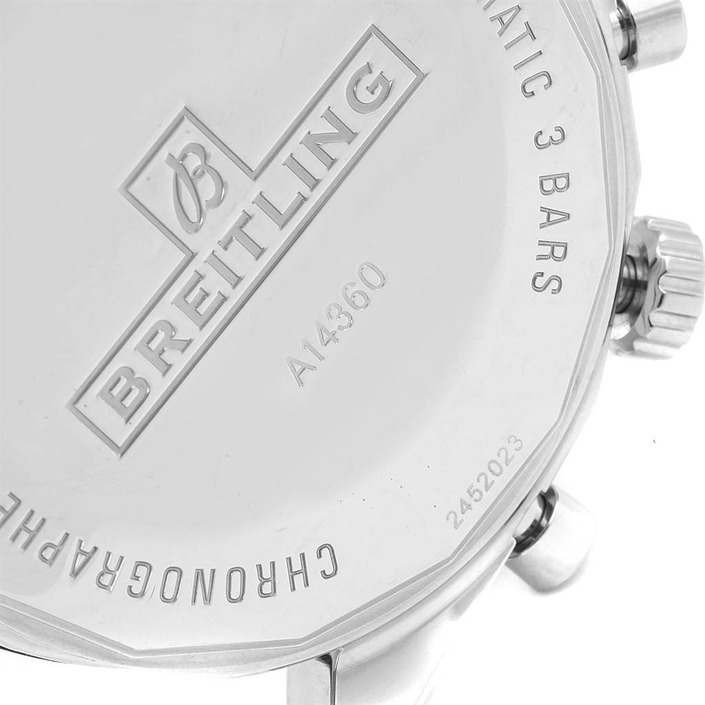 17383 Breitling Chronomatic Chronograph Steel Mens Watch A41360 SwissWatchExpo