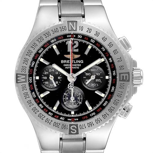 Photo of Breitling Hercules Black Dial Chronograph Steel Mens Watch A39362