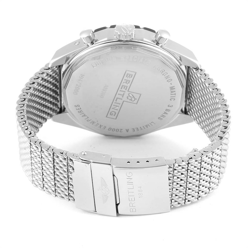 Breitling Chrono-Matic 1461 Mesh Bracelet Limited Edition Watch A19360 SwissWatchExpo