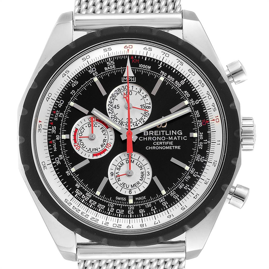 Breitling Chrono-Matic 1461 Mesh Bracelet Limited Edition Watch A19360