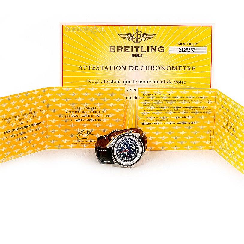 8239 Breitling Chronomatic Limited Edition Mens Watch A22360 24H SwissWatchExpo