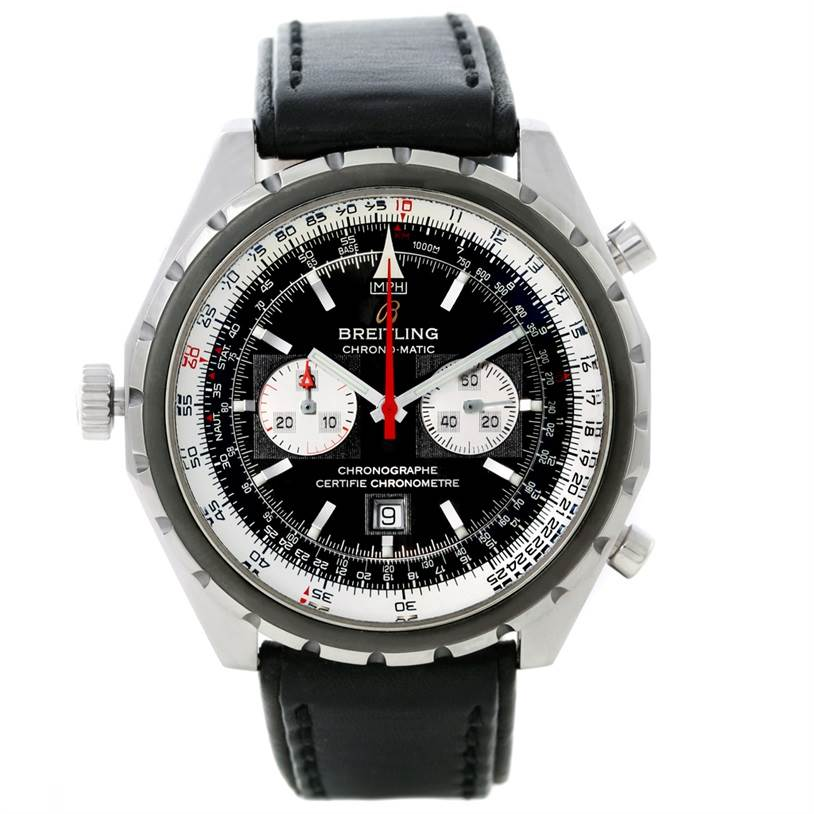 8616 Breitling Chronomatic Steel Mens Watch A41360 SwissWatchExpo