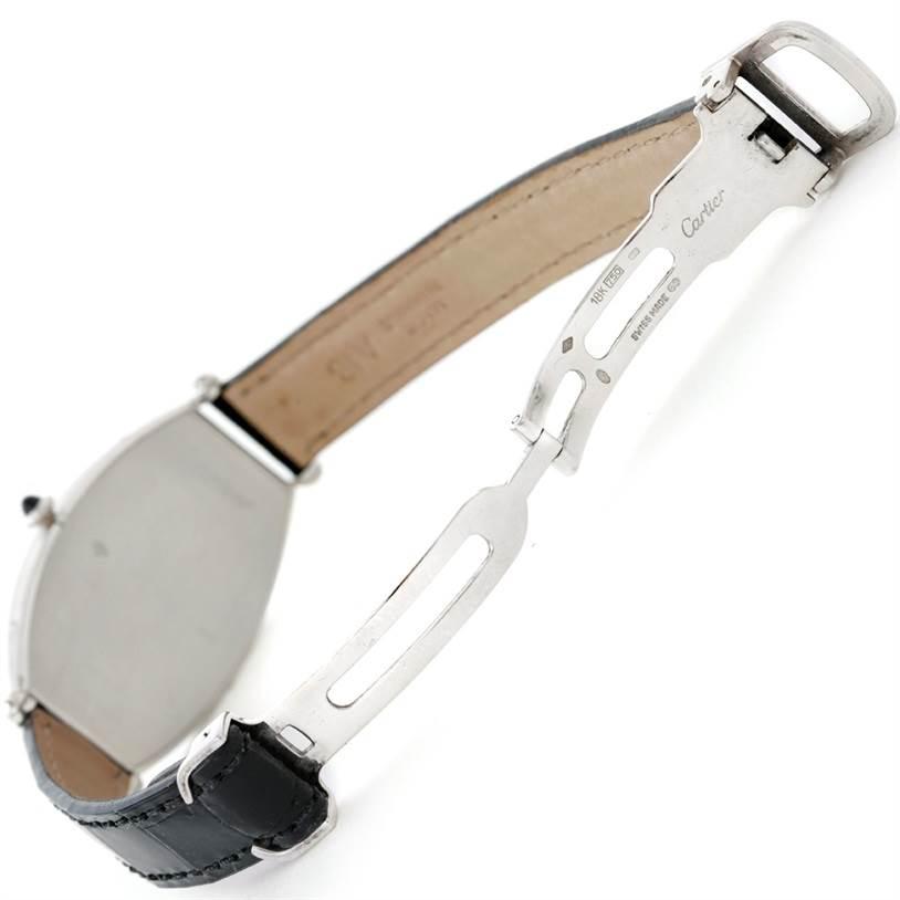 8605 Cartier Paris Tonneau Platinum Watch CPCP W1546351 SwissWatchExpo