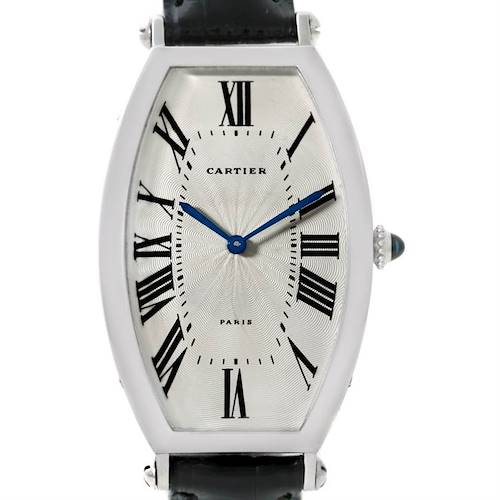 Photo of Cartier Paris Tonneau Platinum Watch CPCP W1546351