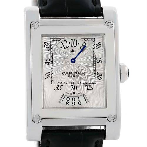 Photo of Cartier Tank A Vis Jumping Hour Paris Privee White Gold Watch W1533451