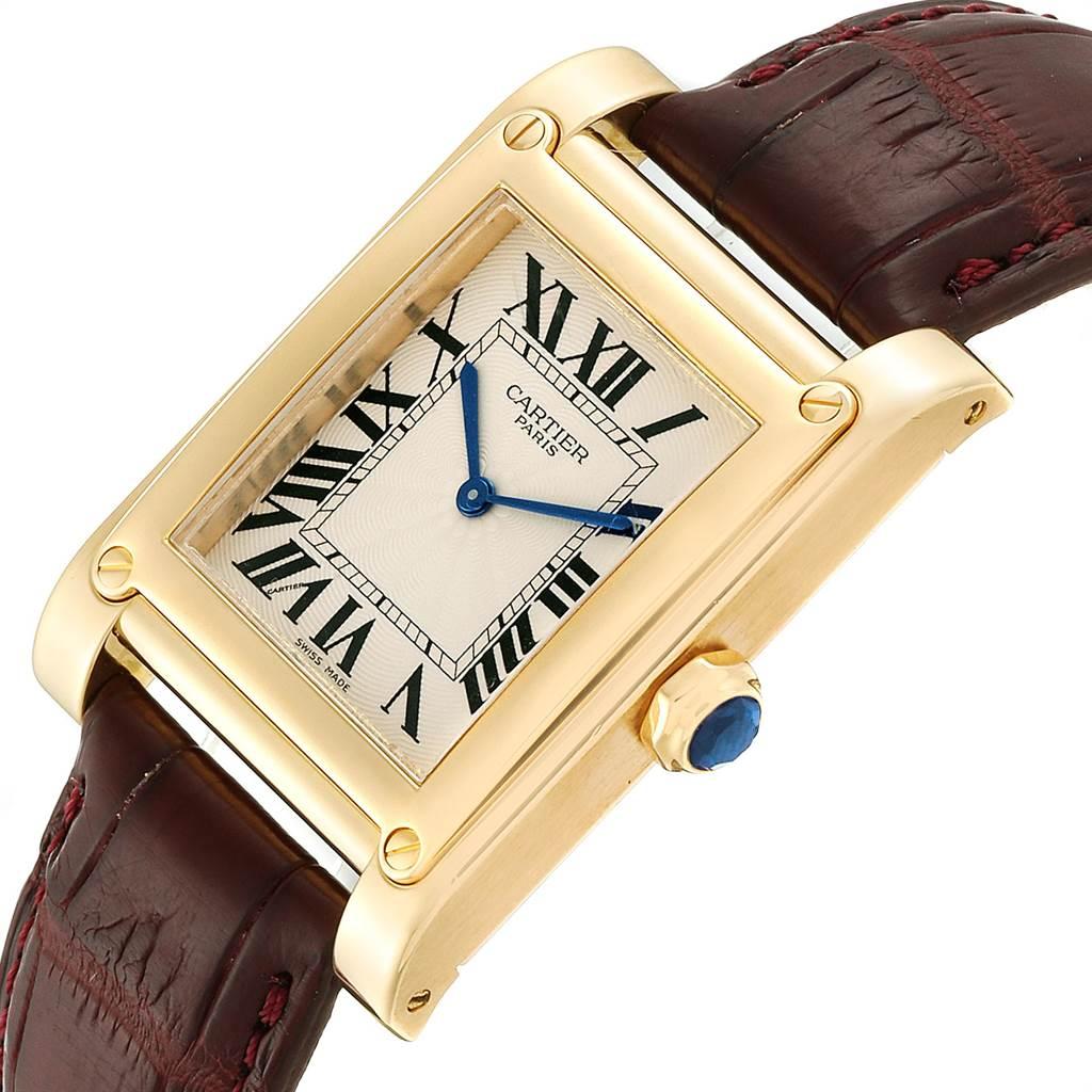 23685 Cartier Tank A Vis Paris Privee Yellow Gold Mens Watch W1539951 SwissWatchExpo