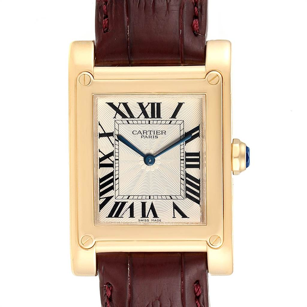 Cartier Tank A Vis Paris Privee Yellow Gold Mens Watch W1539951 SwissWatchExpo