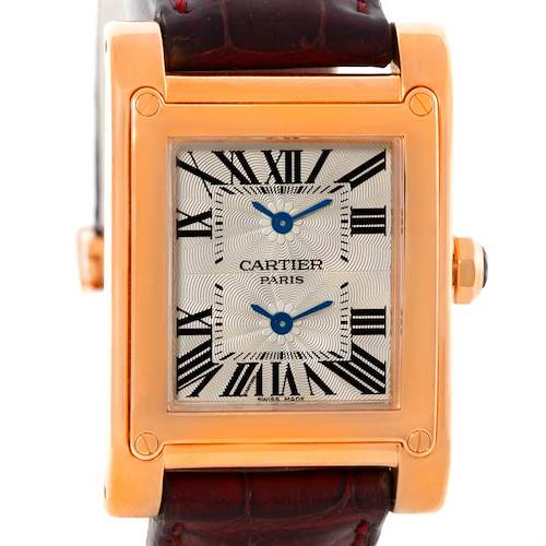 Photo of Cartier Tank A Vis Dual Time 18K Rose Gold Watch W1537651