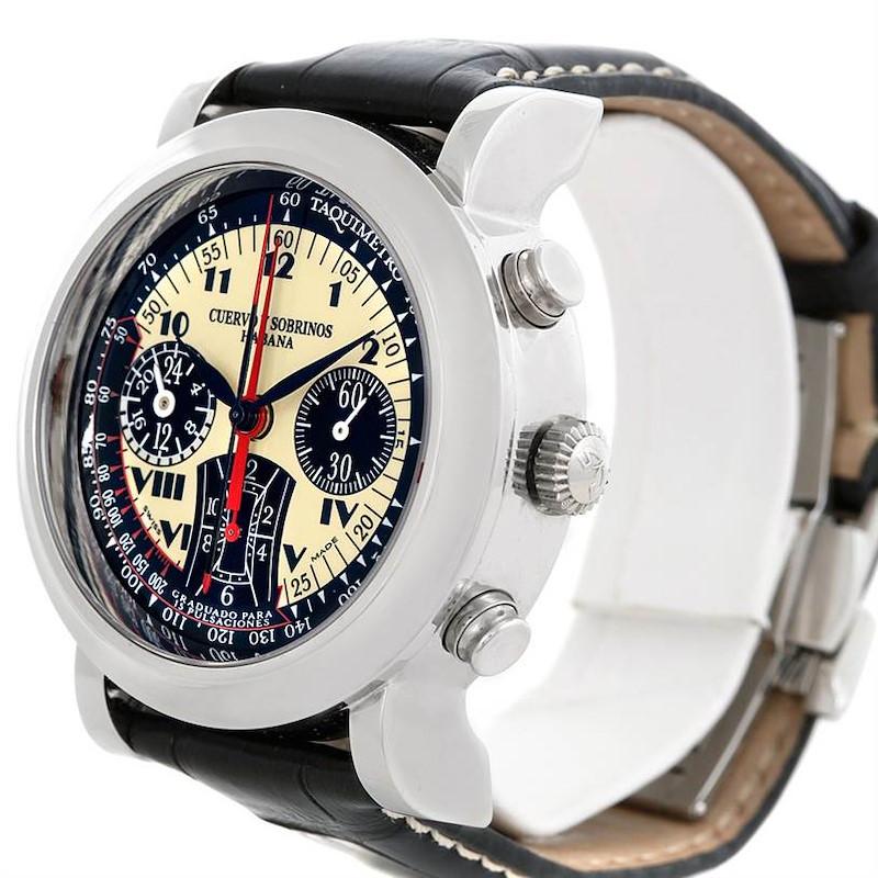 Cuervo Y Sobrinos Torpedo Pulsometro watch 3044 SwissWatchExpo