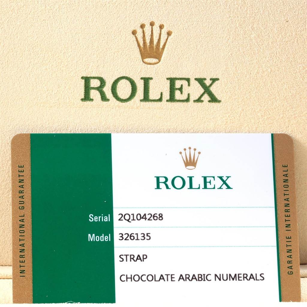 19638 Rolex Sky-Dweller Chocolate Brown Everose Gold Mens Watch 326135 Unworn SwissWatchExpo