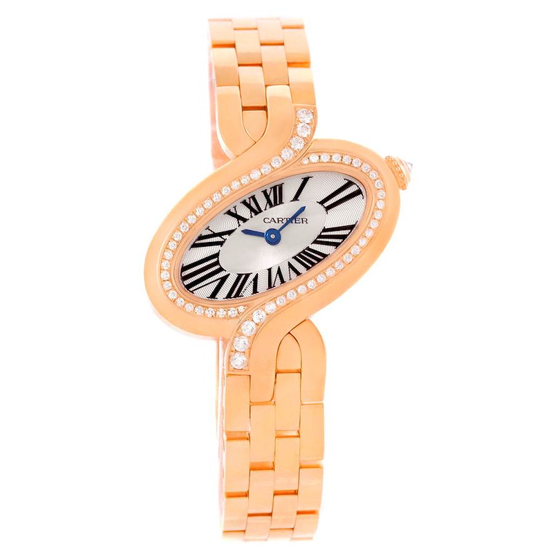 Cartier Delices Small 18K Rose Gold Diamond Watch WG800003 SwissWatchExpo