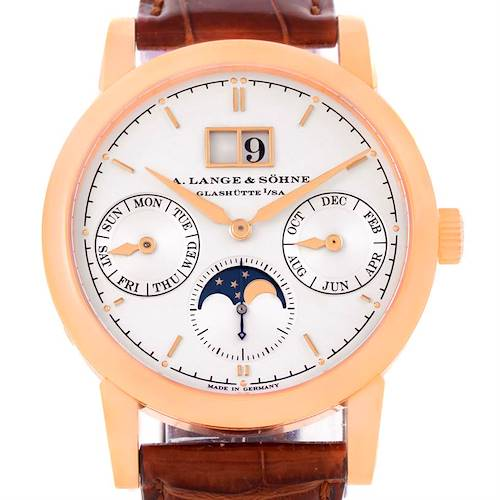 Photo of A. Lange Sohne Saxonia Annual Calendar 38.5mm Rose Gold Watch 330.032