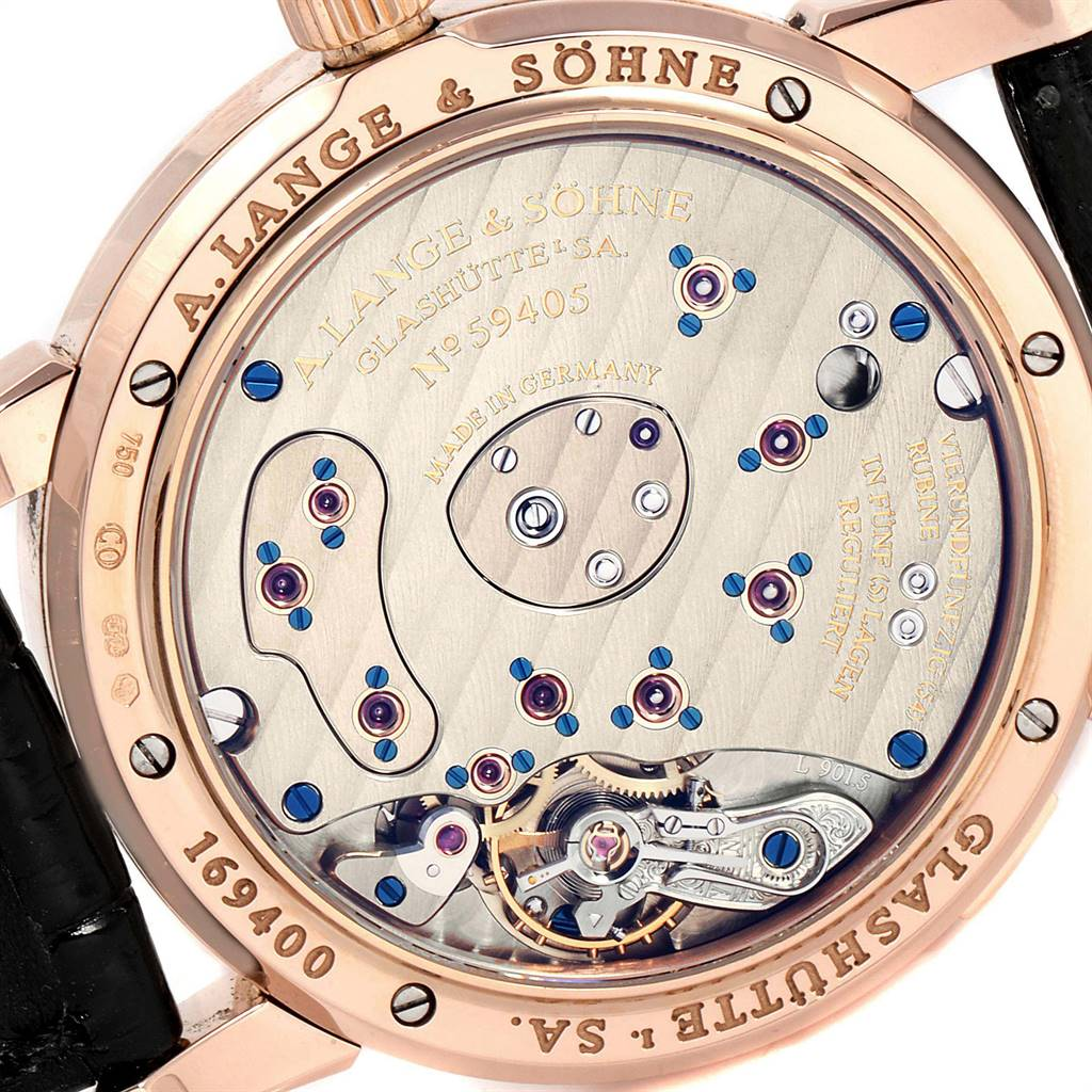 A. Lange Sohne Rose Gold Moonphase 38.5mm Mens Watch 109.032 Box Papers SwissWatchExpo