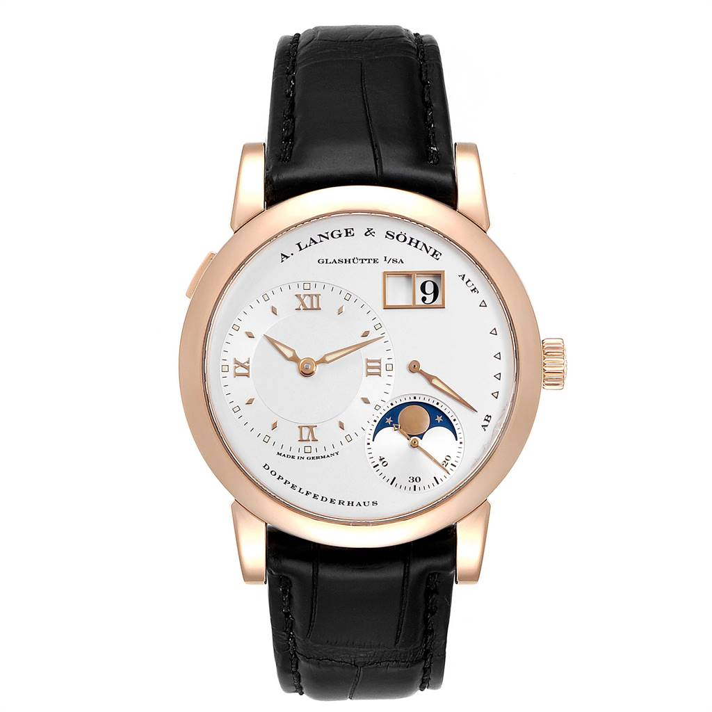 26758 A. Lange Sohne Rose Gold Moonphase 38.5mm Mens Watch 109.032 Box Papers SwissWatchExpo