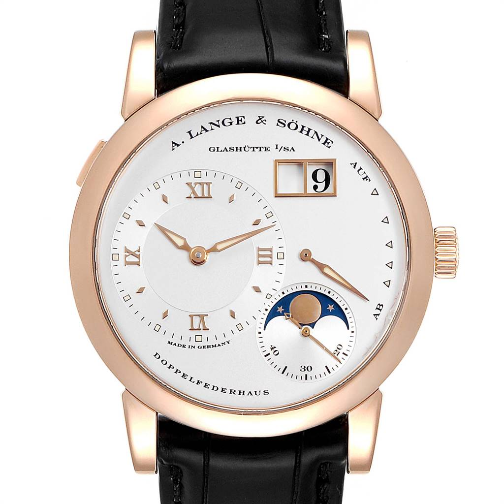A. Lange Sohne Rose Gold Moonphase 38.5mm Mens Watch 109.032 Box Papers