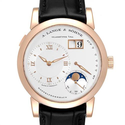 Photo of A. Lange Sohne Rose Gold Moonphase 38.5mm Mens Watch 109.032 Box Papers