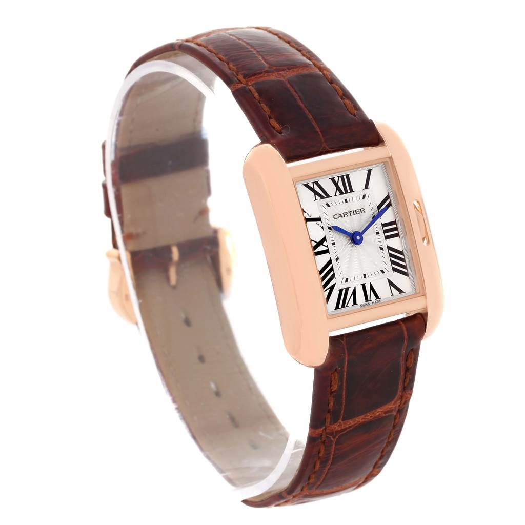 13437 Cartier Tank Anglaise 18K Rose Gold Small Ladies Watch W5310027 SwissWatchExpo