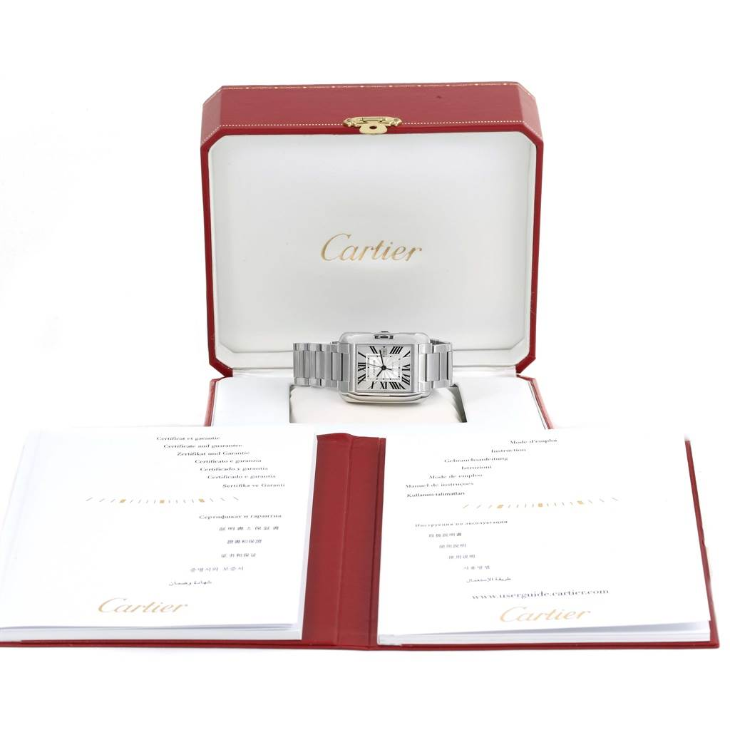 Cartier Tank Anglaise Steel Automatic Mens Watch W5310009 Unworn SwissWatchExpo