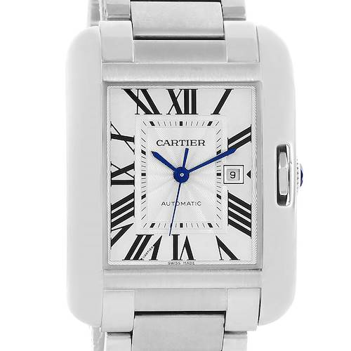 Photo of Cartier Tank Anglaise Steel Automatic Mens Watch W5310009 Unworn