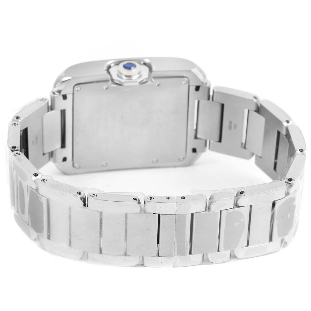 14457 Cartier Tank Anglaise Steel Automatic Mens Watch W5310009 Unworn SwissWatchExpo