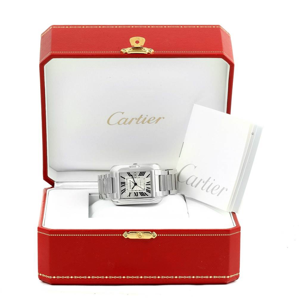 14793 Cartier Tank Anglaise Steel Automatic Large Mens Watch W5310009 SwissWatchExpo