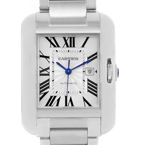 Photo of Cartier Tank Anglaise Steel Automatic Large Mens Watch W5310009