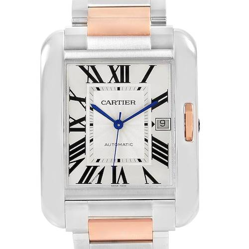Photo of Cartier Tank Anglaise XL Steel Rose Gold Automatic Mens Watch W5310006