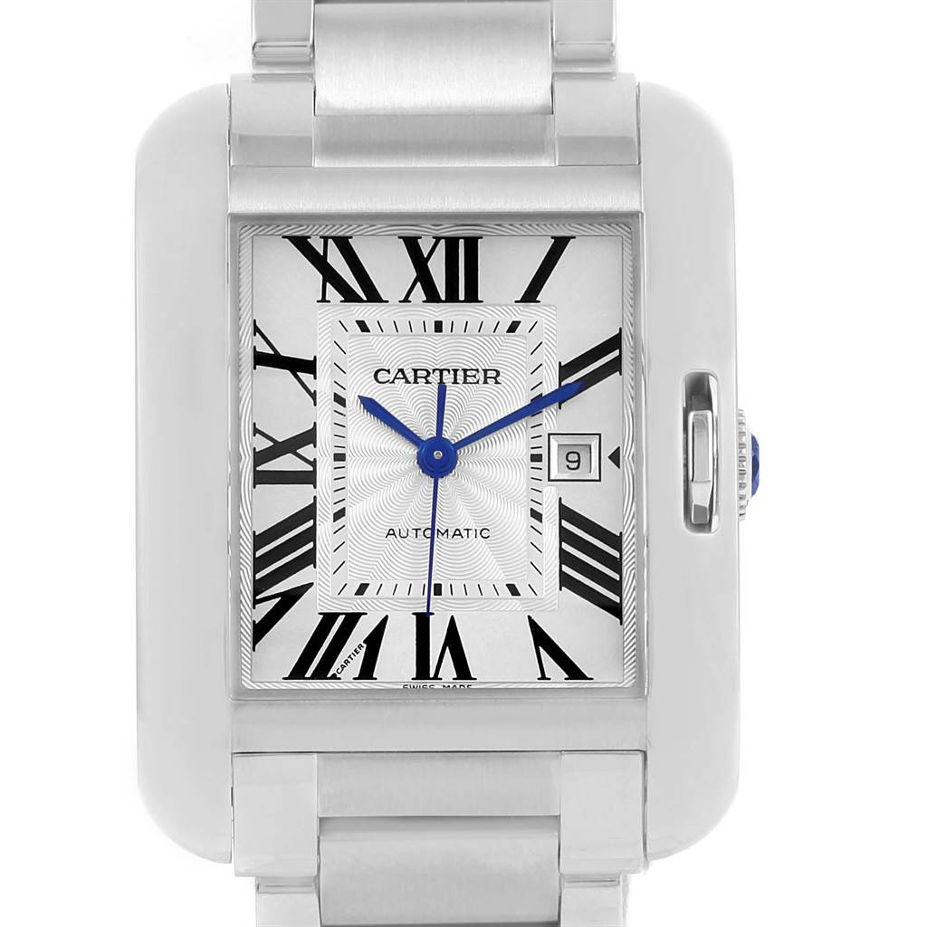 20660 Cartier Tank Anglaise Steel Large Mens Watch W5310009 Box Papers SwissWatchExpo