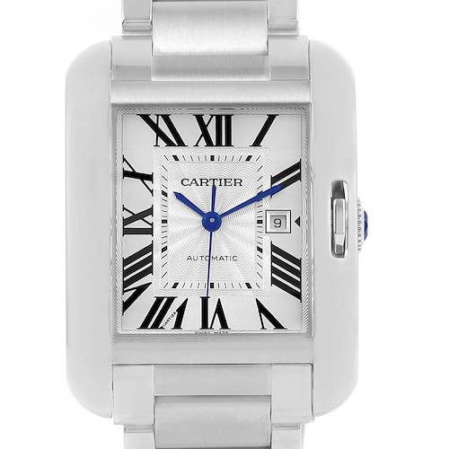 Photo of Cartier Tank Anglaise Steel Large Mens Watch W5310009 Box Papers