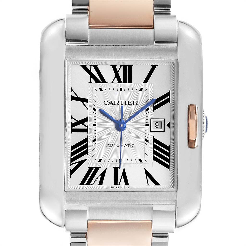 22786 Cartier Tank Anglaise Large Steel Rose Gold Watch W5310007 Unworn SwissWatchExpo