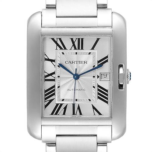Photo of Cartier Tank Anglaise XL Steel Automatic Mens Watch W5310008 Box Papers