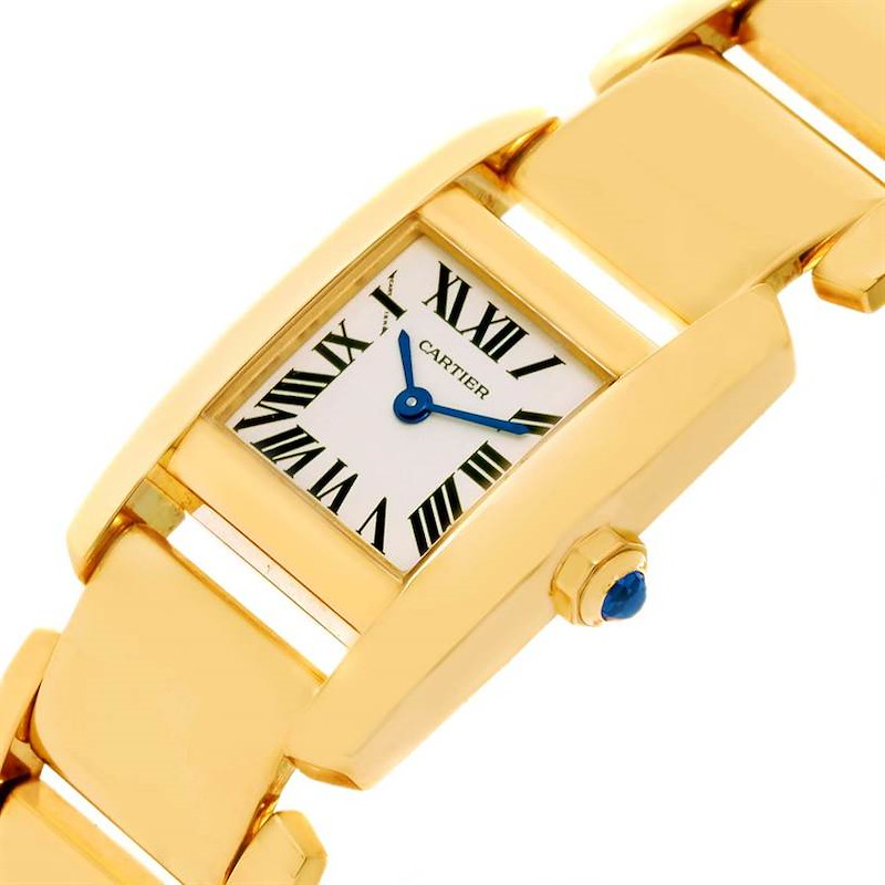 Cartier Tankissime 18K Yellow Gold Ladies Watch W650037H Box Papers SwissWatchExpo