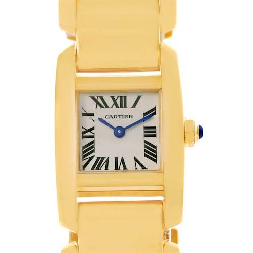 Photo of Cartier Tankissime 18K Yellow Gold Ladies Watch W650037H Box Papers